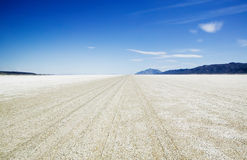 Salt flat playa of the Black Rock Desert Stock Photo