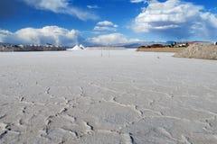 Salt flat of Salar Uyuni salt lake Royalty Free Stock Image