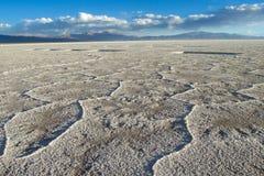 Salt flat of Salar Uyuni salt lake Royalty Free Stock Images