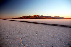 Salt flat sunrise Stock Photos