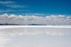Salt flat of Uyuni. Bolivia Royalty Free Stock Images