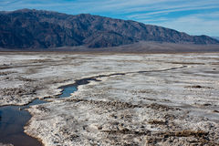 Salt Flats. In Death Valley National Park, California Royalty Free Stock Photos