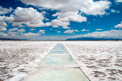 Salt flats in Argentina Stock Photography
