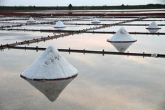 Salt flats in Asia Stock Images
