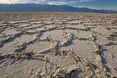Salt flats at Badwater Basin Royalty Free Stock Photography