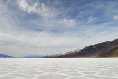 Salt flats in Badwater in Death Valley Stock Photos