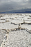 Salt flats in Badwater in Death Valley Royalty Free Stock Image