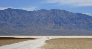 The salt flats at Badwater, Death Valley, CA Royalty Free Stock Photos
