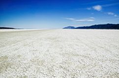 Salt Flats of the Black Rock Desert Playa Stock Photography