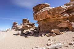 Salt Flats, Bolivia. Arbol de Piedra in the Salt Flats, Bolivia Royalty Free Stock Photo