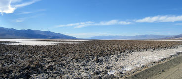 Salt Flats at Death Valley Stock Images