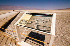 Salt Flats Death Valley CA Royalty Free Stock Photography