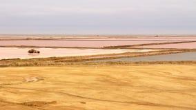 Salt flats, Namibia Stock Photo