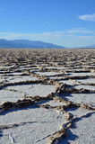 Salt flats. Near Badwater, Death Valley Royalty Free Stock Images
