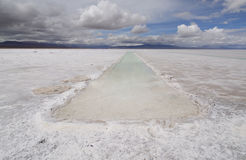 Salt Flats, North Argentina stock photography