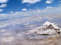 Salt flats (Salar de Uyuni), Bolivia Royalty Free Stock Photo