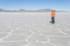 Salt Flats Tourist Royalty Free Stock Photo
