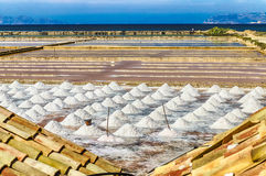 The Salt Flats of Trapani, Sicily Stock Photos