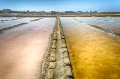 The Salt Flats of Trapani, Sicily Royalty Free Stock Photos