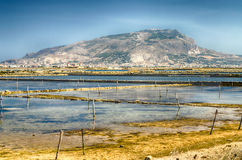 The Salt Flats of Trapani, Sicily Stock Image