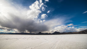 Salt flats utah. Bonneville salt flats Great Salt lake, Utah, USA stock photo