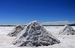 Salt flats, Uyuni, Bolivia. Royalty Free Stock Photography