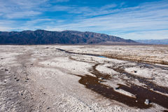 Salt Flats Water. Water in the salt flats in Death Valley National Park, California Stock Images