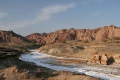 salt flod Royaltyfri Fotografi