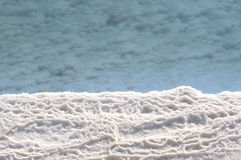 Salt formation in the Dead Sea Stock Photos