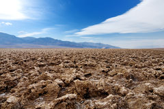 Salt formations at Devils Golf Course in Death Valley National Park, California Stock Images