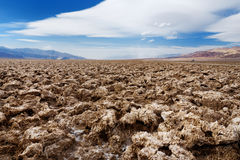 Salt formations at Devils Golf Course in Death Valley National Park, California. Famous salt formations at Devils Golf Course in Death Valley National Park Royalty Free Stock Photo