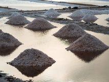 Salt mounds Royalty Free Stock Image