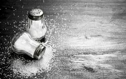 Salt in glass. stock photography
