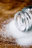 Salt in glass container Royalty Free Stock Image