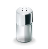 Salt glass shaker Royalty Free Stock Image