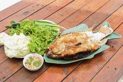 Salt-grilled fish Stock Photo