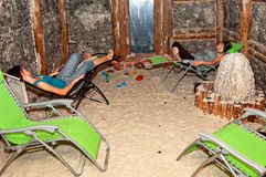 salt grotta Arkivbild