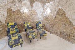 salt grotta Salt grottaterapi för inre Fotografering för Bildbyråer