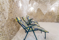 salt grotta Salt grottaterapi för inre Arkivfoto
