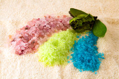 salt handduk för bad Arkivbilder