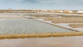 Salt hav och och salt träsk i Nubia Arkivbilder