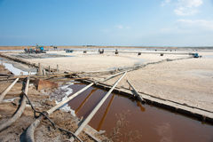 Salt hav: produktionteknologi i Bulgarien Arkivfoto