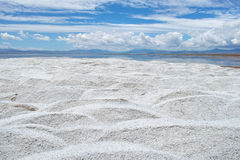 Salt heap. The salt heap of Caka Salt Lake in Qinghai, china royalty free stock image