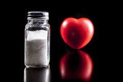 Salt And Heart Stock Images