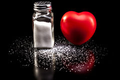 Salt With Heart royalty free stock photo