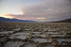 Salt Hexagons in Badwater Basin, Death Valley Royalty Free Stock Photos