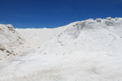 Salt hill in salar Royalty Free Stock Photography