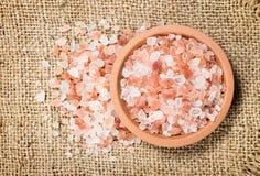 salt himalayan pink arkivfoton
