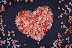 salt himalayan pink royaltyfria bilder