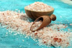 salt himalayaspink arkivfoton